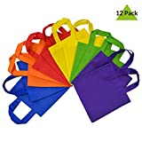 Prime Line Packaging Reusable Gift Bags with Handles, Tote Bags, Party Favor Bags 12 Pack - Assorted Bright Neon Colors É (10 X 10)