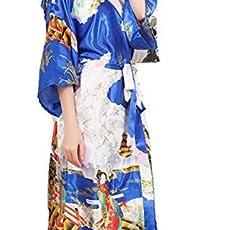 501c5616e8 Silk Satin Bathrobe Robes For Women Wedding Bride Bridesmaid Robe Floral  Long.