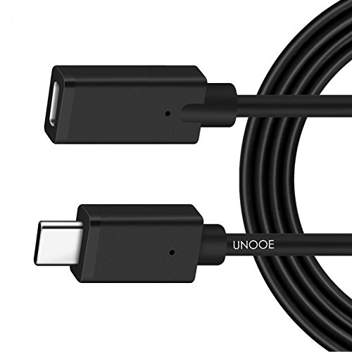 USB C Extension Cable 6ft, UNOOE USB 3.1 Type C Male to Female Thunderbolt 3 Extension Cord (10Gpbs) Support Charging Data Sync Video Audio Transfer for Nintendo Switch,MacBook Pro,Chromebook Pixel