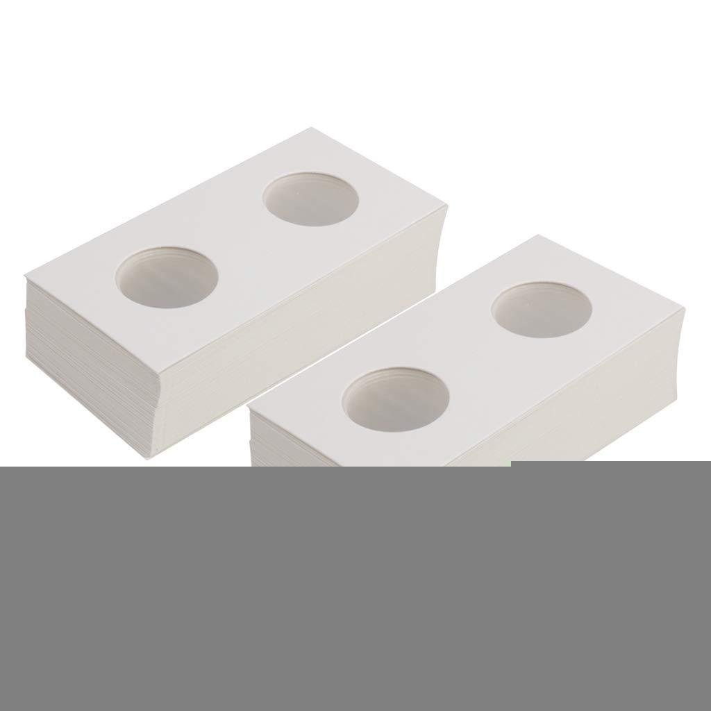 20.5mm 17.5mm IPOTCH 100x Capsules de Pi/èce de Monnaie /Étuis en Carton pour Rangement Pi/èce de Monnaie Collection Fournitures