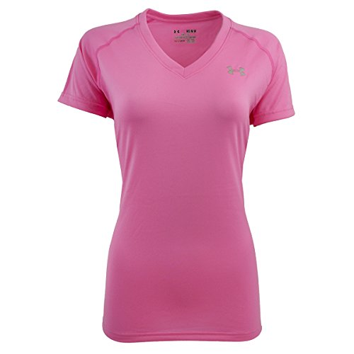 Under Armour Women's UA Tech V-Neck T-Shirt Petal Pink L