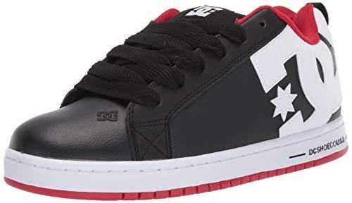 DC Men's Court Graffik Skate Shoe, red/Black/White, 10.5 M US