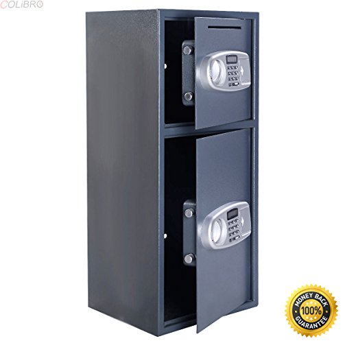 COLIBROX--Double Door Digital Safe Depository Drop Box Safes Cash Office Security Lock New,best long gun safe,best gun safe 2017,compact long gun safe,cheap gun safe,replacement lock for gun cabinet by COLIBROX