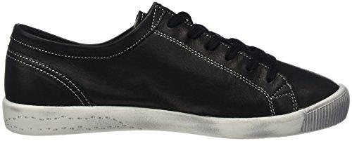Softinos Damen Isla Soepele Sneaker Schwarz (zwart)