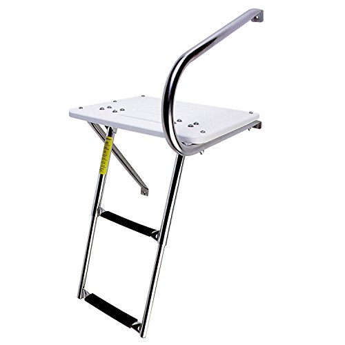 Garelick/Eez-In 19536:01 Combo Outboard Transom Platform/Telescopic Ladder