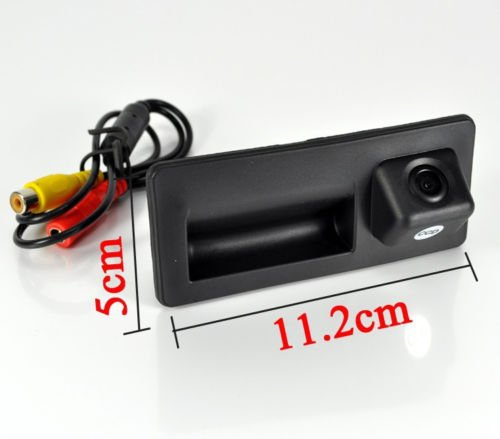 Momoap//Car Trunk Handle and CCD Rear View Backup Reverse Parking Camera Vehicle Backup Cameras for Audi A4 A8 S5 Q3 Q5 2012 2013 2014 2015 2016 2017 2018 2019
