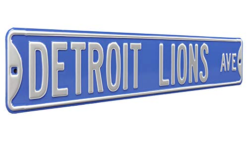 Fremont Die NFL Detroit Lions Metal Wall Décor- Large, Heavy Duty Steel Street Sign