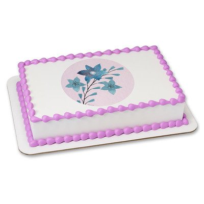 Wild Flowers Edible Icing Image for 6 inch Round Cake