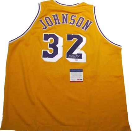 52a4ed8c94d7 Magic Johnson Autographed Signed Lakers Jersey at Amazon s Sports  Collectibles Store