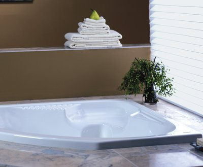Jacuzzi CPS6060WCR2XXACapella Drop In Corner Comfort Whirlpool Bathtub With  8 Jets, Basic Controls, Center