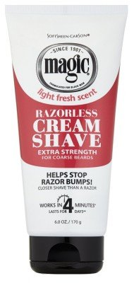 - Magic Razorless Cream Shave Light Fresh Scent Extra Strength 6oz (6 Pack)