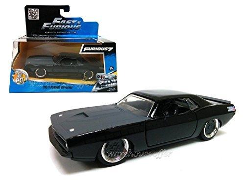 New 1:32 W/B Fast & Furious Letty's Matte Grey Plymouth Barracuda Diecast Model Car By Jada Toys (Barracuda Car Plymouth)