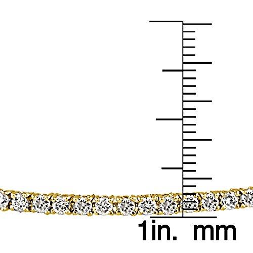 En argent sterling Bracelet de Tennis de 100facettes oxyde de zirconium (5cttw)