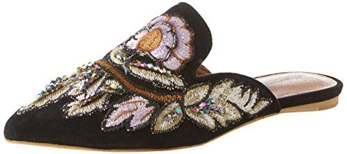 Jeffrey Campbell Damen 8-17f Geschlossene Sandalen Multicolore (Suede Black Flower Multi 001)