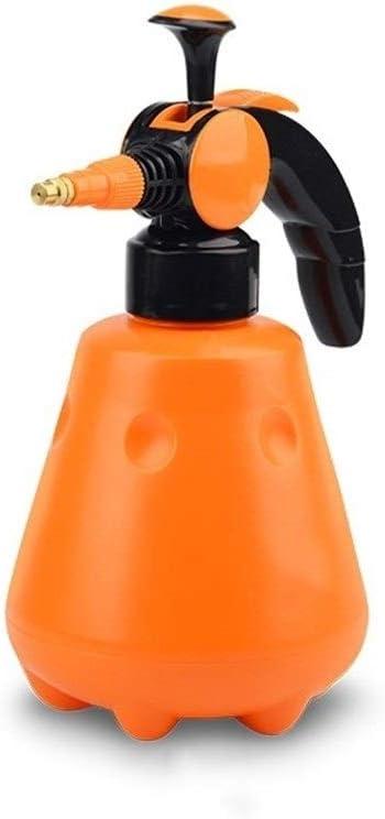 SSN Pulverizadores de presión de 1 litro Boquilla de Cobre Desinfección doméstica Botella de Spray Pulverizador de plástico Naranja Columna de Agua/atomización Regadera de Doble Uso