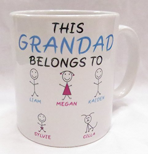 This Grandad belongs to. customisable Mug. Perfect for Father's Day,...