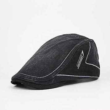 VODRWHAQ Hombre Gorras Casual Men s Hat Carta Parche Bordado Casquillo Viaje Masculino Retro Beret