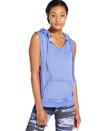 Calvin Klein Performance Women's Sleeveless Pullover Hoodie (Medium, Blue Jay)