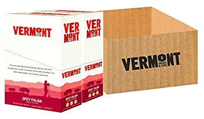 Vermont Smoke & Cure Meat Sticks, Pork, Antibiotic Free, Gluten Free, Spicy Italian, 1oz Stick, 48 Count