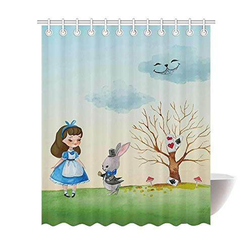 Vanderbi1t Funny Custom Quality Polyester Shower Curtain Bathroom 60x72-Little Girl (Kmart Holdbacks)