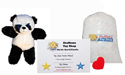 Make Your Own Stuffed Animal Mini 8 Inch Fluffy Panda Bear K