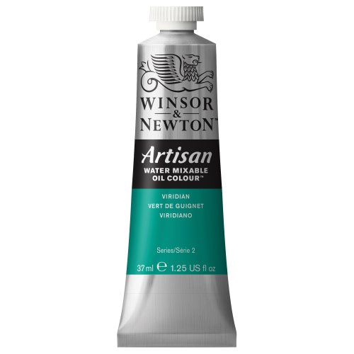 - Winsor & Newton 1514692 Artisan H20 MIXABLE Oils 37ML. Viridian, 37-ml Tube,