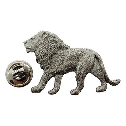 Sarah's Treats & Treasures Lion Pin ~ Antiqued Pewter ~ Lapel -