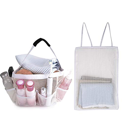 9 Nice Mesh Shower Caddy For Bathroom Storage - Portable Shower Caddy Tote Quickly Dry Hanging Shower Bag, Toiletry Bag with 8 Storage Pockets For Attmu, Mayin, Haundry, ShowerMade, Fancii
