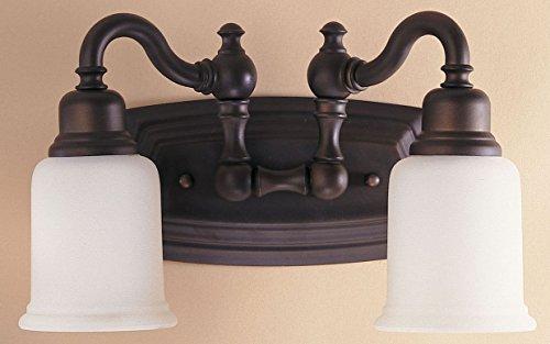 Accessories Dacor Range (Feiss VS8002-ORB Canterbury Glass Wall Vanity Bath Lighting, Bronze, 2-Light (14