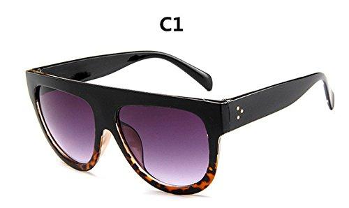 Diseño la de ZHANGYUSEN C6 lujo gafas sol Gafas gafas marca de gafas mujer Gran Frame Full sol de de C1 Mujer Vintage FBI00Wqdw