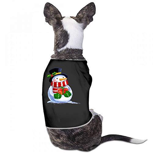 Summer Pet Apparel Christmas Pet Clothes Dog Clothes Cotton Vest Merry Christmas Dogs Summer Vest Costumes Soft Breathable Sleeveless - (Sky Blue, Gray, Yellow, Black) (Lil Merry Wayne Christmas)