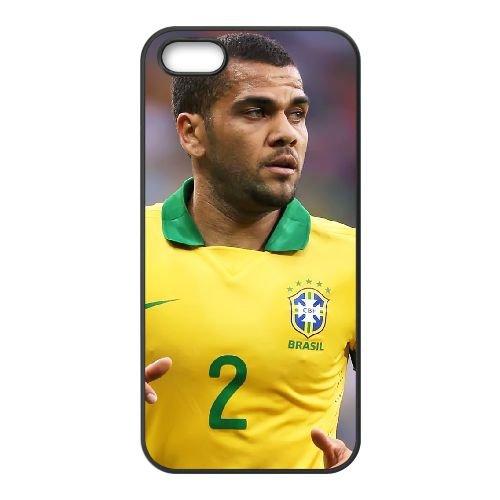 Dani Alves coque iPhone 4 4S cellulaire cas coque de téléphone cas téléphone cellulaire noir couvercle EEEXLKNBC24396