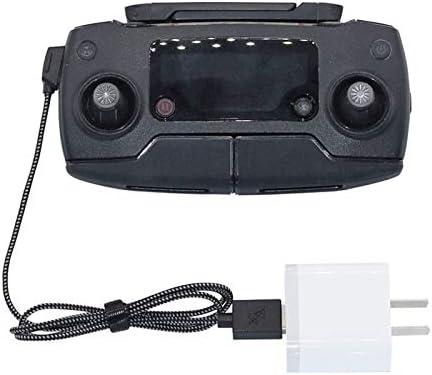 "Rantow Câble de Charge RC 19"" pour DJI Mavic Pro Drone Spark Mavic 2 Zoom Zoom Mavic Air Télécommande Cordon tressé en Nylon USB"