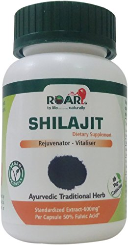HIGH POTENCY SHILAJIT 600mg PER Vegetarian Capsule (50% of Fulvic Acid -300mg) for Libido, Weight Management, and increased Vigor and Vitality