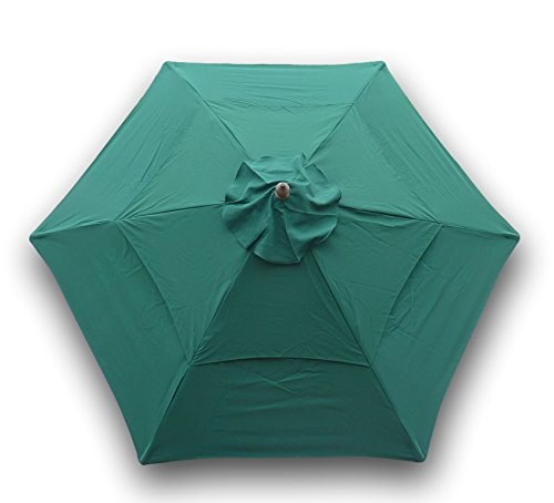 (Formosa Covers Double Vented 9ft Umbrella Replacement Canopy 6 Ribs in Green (Canopy Only))