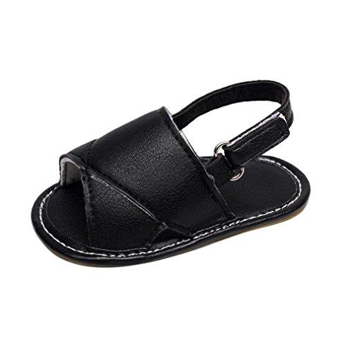 Jamicy® Baby Sandalen, Kleinkind Jungen Mädchen Sommer Casual Beach Solide Hohl Sandalen Schuhe Schwarz