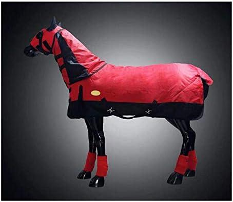 La participación de caballos Mantas, Combo de peso pesado de Troya La participación alfombra con completa Cuello, 900D Ripstop invierno impermeable y transpirable fija cuello de concurrencia caballo m