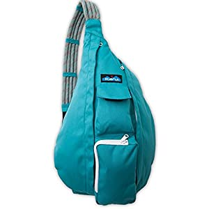 KAVU Women's Rope Sling Shoulder Bag (Polyester), Turquoise, One Size