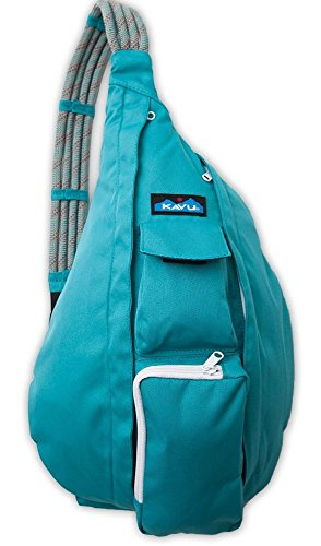 KAVU Women's Rope Sling Shoulder Bag (Polyester), Turquoise, One Size