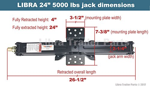 Set-of-4-5000-lb-24-RV-Trailer-Stabilizer-Leveling-Scissor-Jacks-whandle-26020