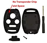2 Pack Key Fob Shell Case Fit for Honda Accord