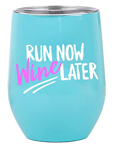 Gifts for Runners - Wine Tumbler/Mug 12oz Cup with Lid for All Drinks - Funny Gift idea for Half Marathon Runner, Cross Country Running, Women, Men by Tough Tumblers