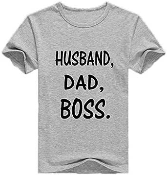 Round Neck Husband, Dad, Boss T-Shirt For Men