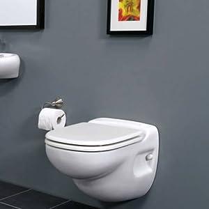 Saniflo Wall Mounted Toilet. Macerating Toilet Complete