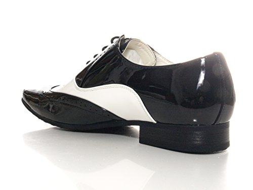 Herren Business Hochzeit Bräutigam Schnürr Schuhe Schwarz Weiß # 211-3