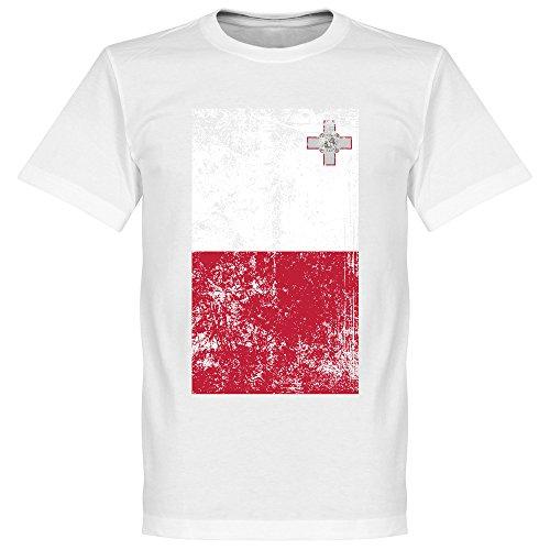 Malta Fahne T-Shirt - weiß