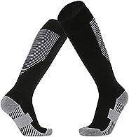 PreSox Unisex Sports Thicken Cushion Knee High Socks with Rubber Dots for Baseball/Soccer/Futbol Shinguards