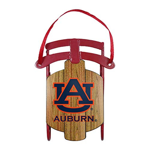 (Boelter Brands NCAA Auburn Tigers Ornament Metal Sled, Team Color, One Size)