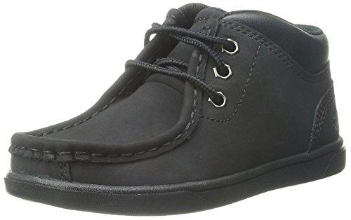 Timberland Groveton Læder Moc Chukka Boot (barn / Lille Barn / Big Kid) Hvede Nubuck Sort nVpBbnD40S