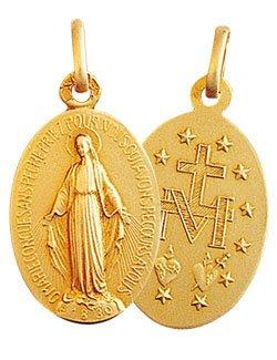 Médaille Miraculeuse Rue du Bac 13mm- Or 9 carats